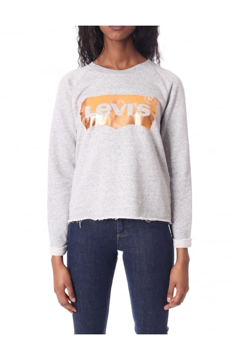 Women's Copper Foil Gym Crew Neck Sweat