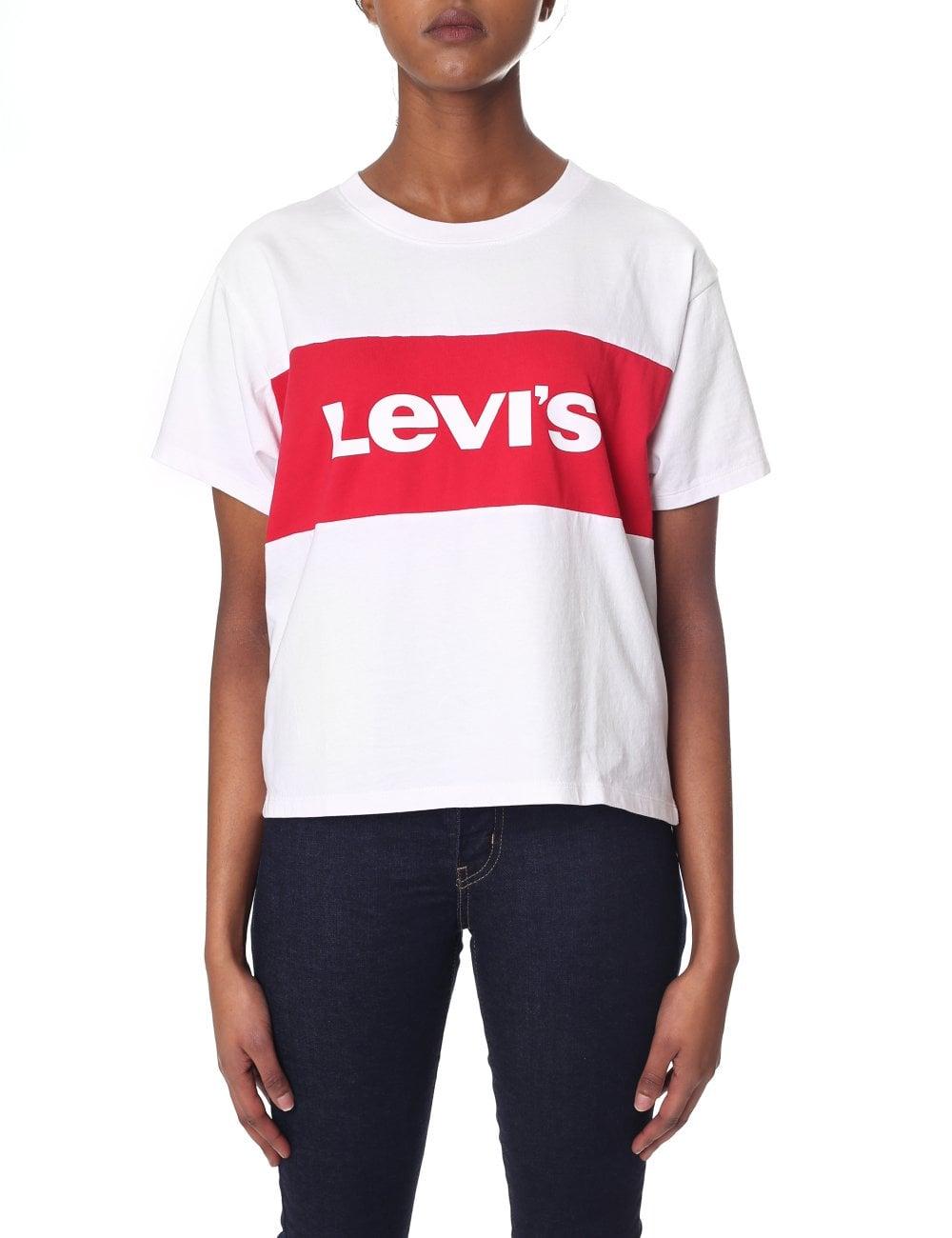 5ef1c853c425 Levi's Women's Graphic CB Varsity Tee