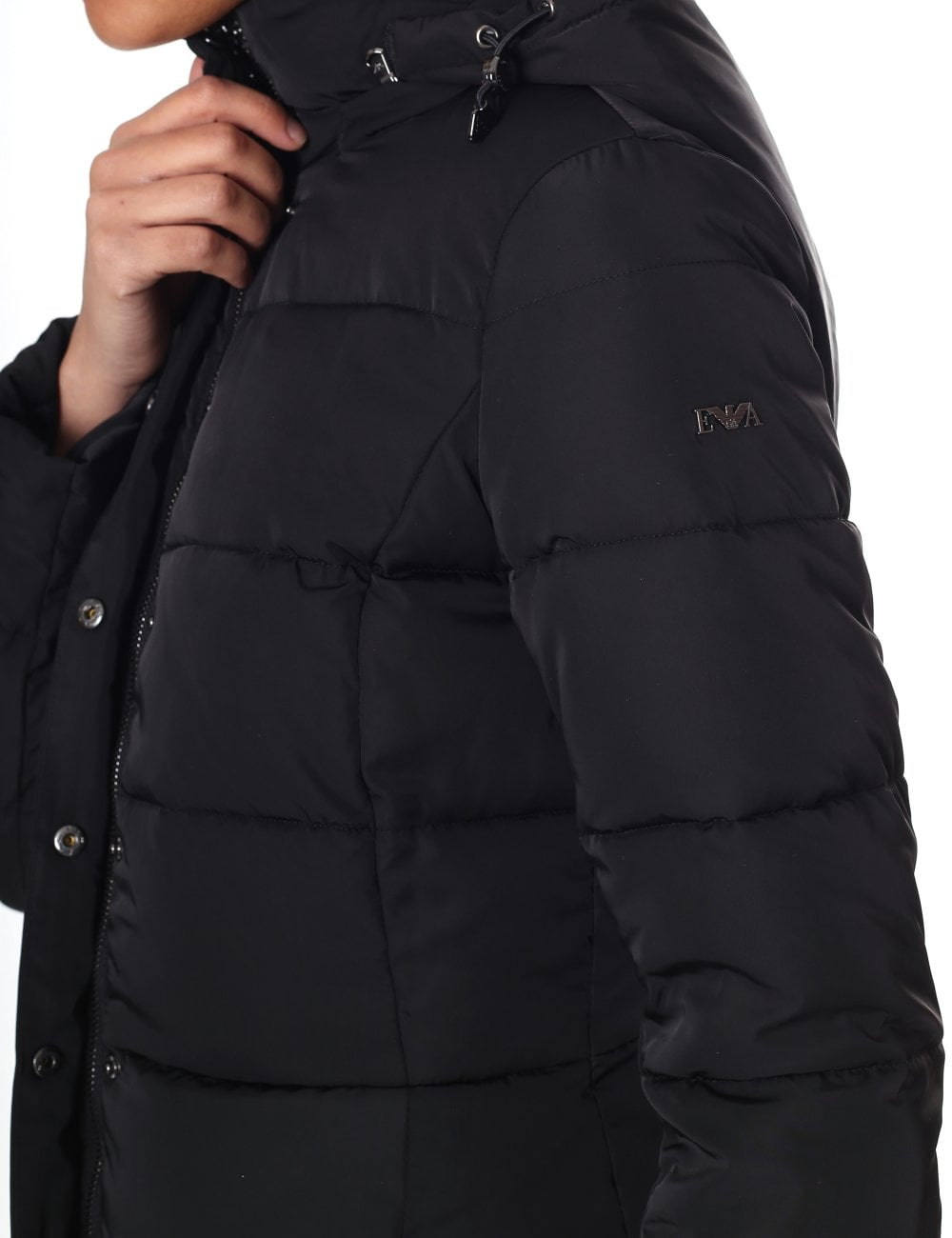 classic style good looking exquisite craftsmanship EMPORIO ARMANI JEANS Long Padded Coat