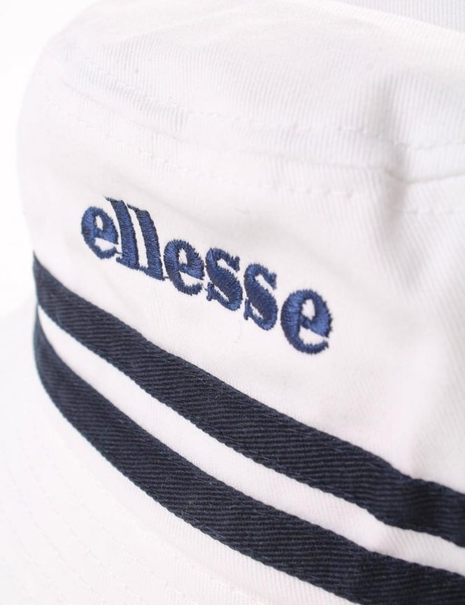 3e089bf0 Ellesse Lorenzo twin Stripe Men's Bucket Hat White