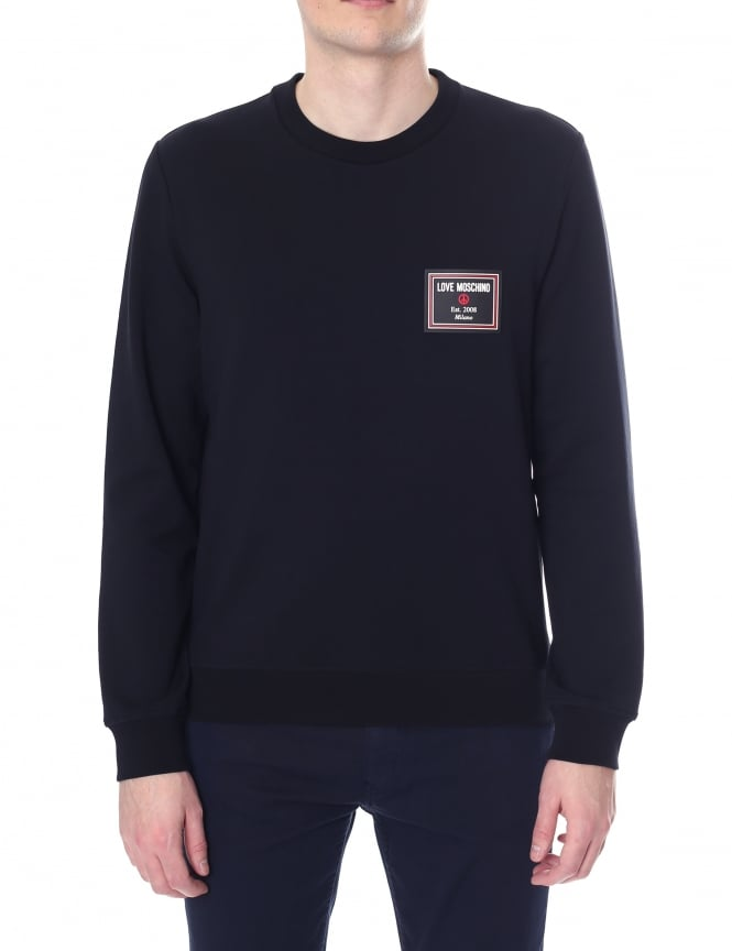 Love Moschino Men's Crew Neck Long Sleeve Sweat Top