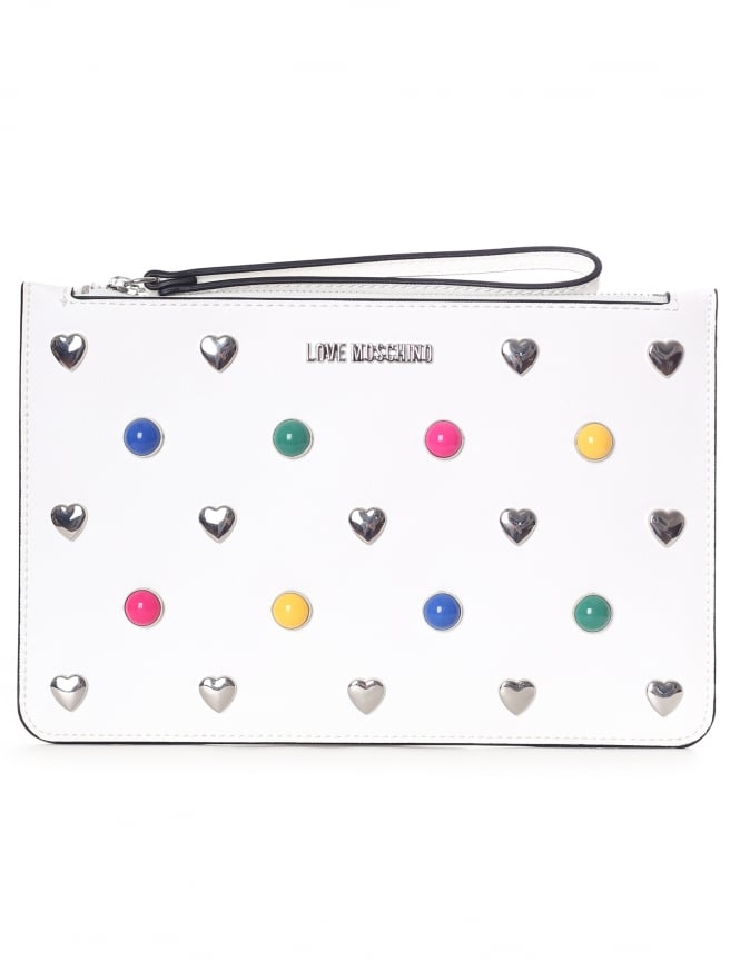 Love Moschino Mutli Colour Stud & Heart Pouch
