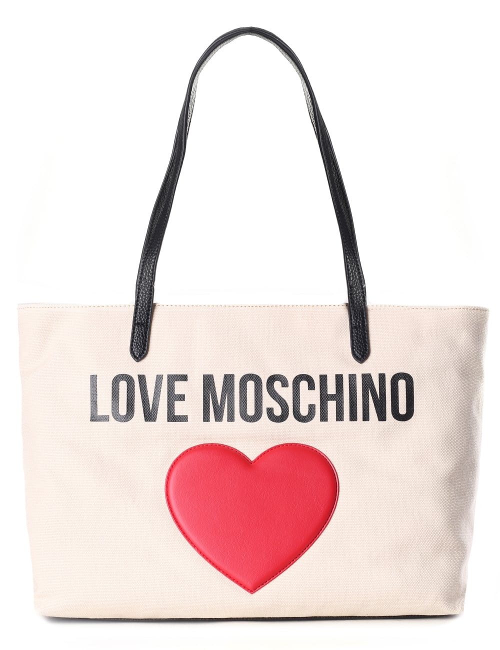 ee4c4c11fa4 Love Moschino Women s Canvas Logo Heart Tote