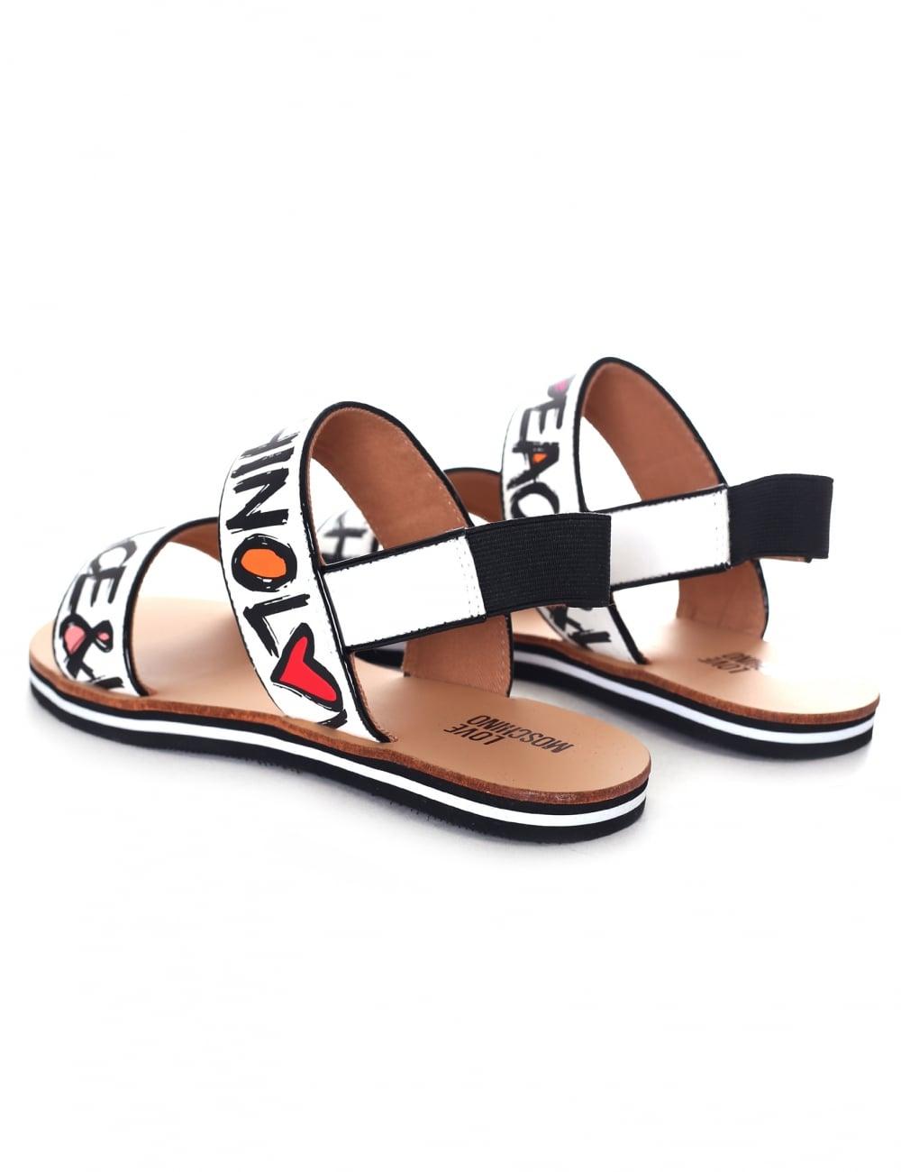 db94e2969ce3 Love Moschino Women s Graffiti Sandals