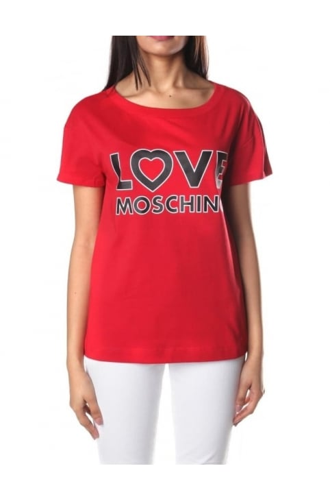 Love Moschino Women's Logo Tee