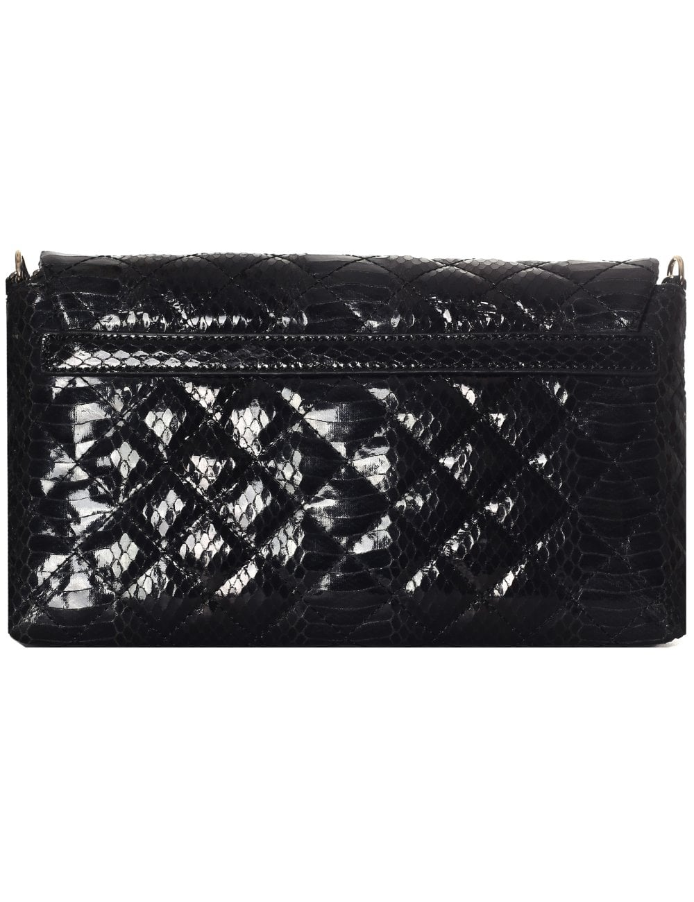 8bc67db2bc11 Love Moschino Women s Quilted Clutch With Chain