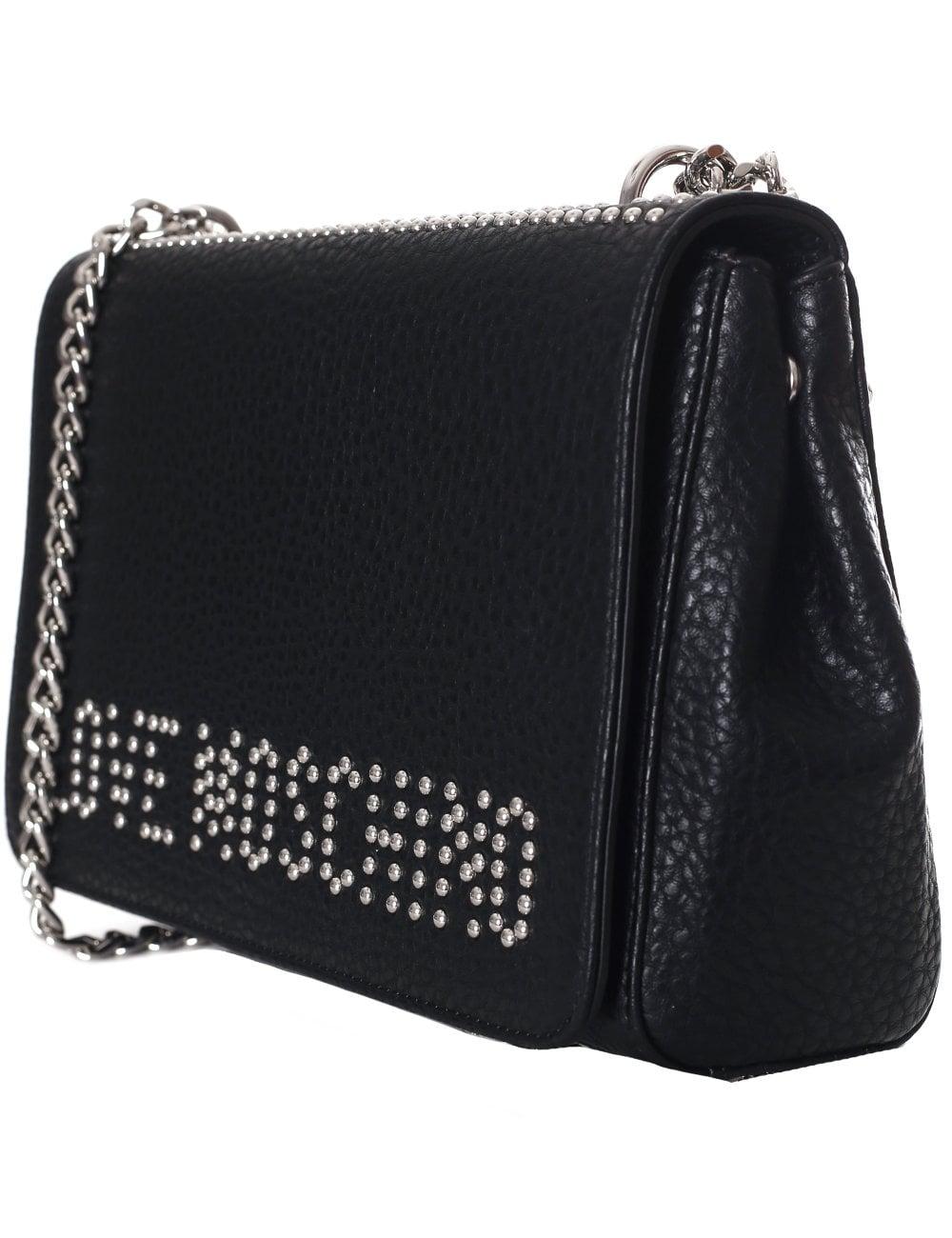 27f3602610f1 Love Moschino Women s Studded Logo Chain Shoulder Bag