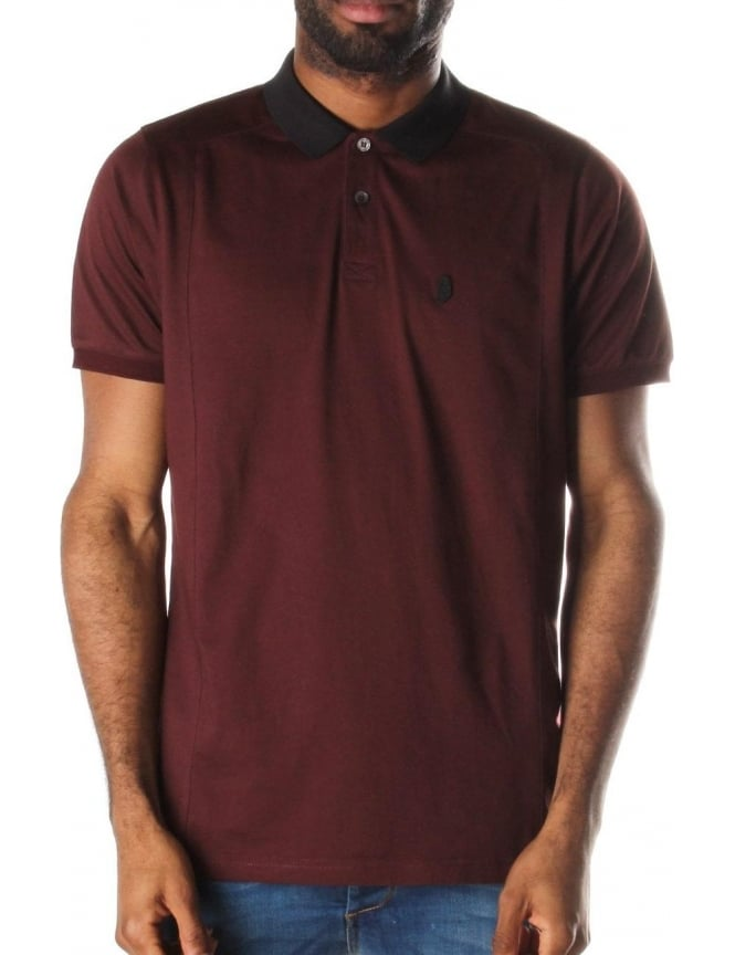 Luke 1977 2 Bob Note Mixed Fabric Men's Polo Top Port Royale