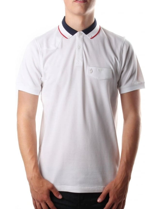 Luke 1977 Airbrght Striped Collar Men's Polo Top