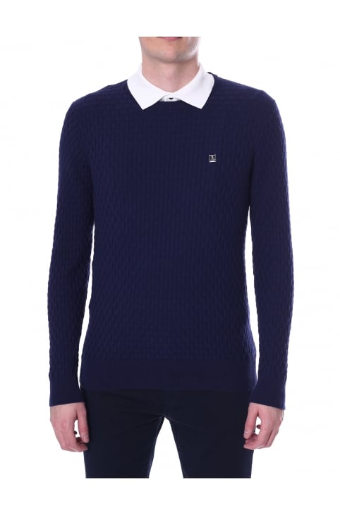Men's Binary Long Sleeve Crew Neck Computer Knit