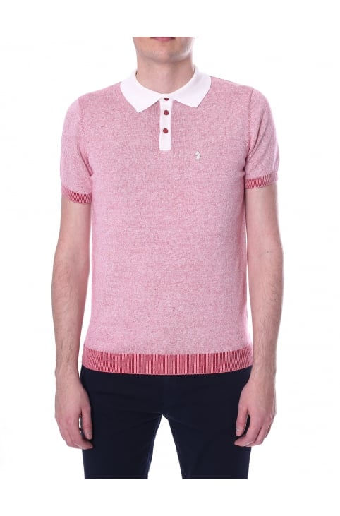 Men's Short Sleeve Knitted Plated Polo