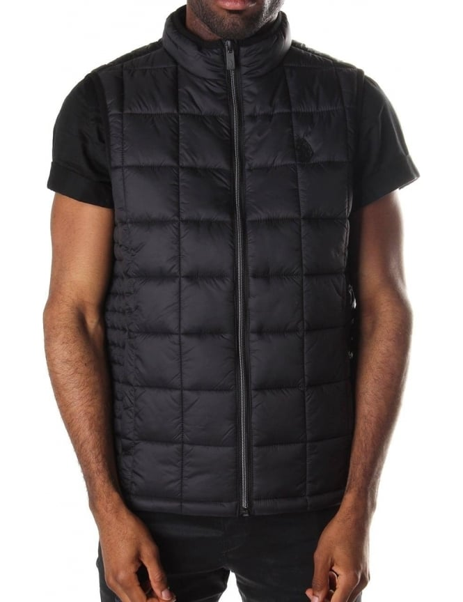 Luke 1977 Northy Quilted Men's Funnel Neck Gilet