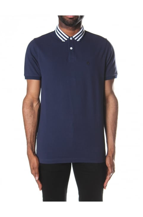 Striped Turtles Head Men's Polo Top