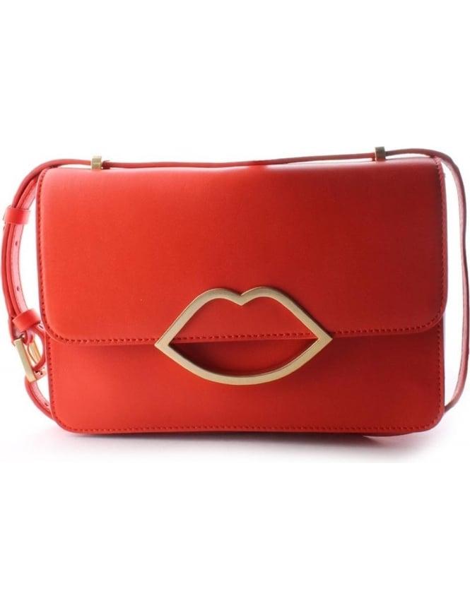 18bfa39cdd85f0 Lulu Guinness Edie Smooth Women's Crossbody bag Burnt Orange