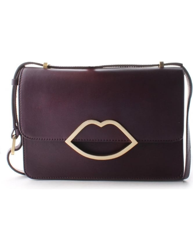 c56ca14b49 Lulu Guinness Edie Smooth Women s Crossbody bag Purple