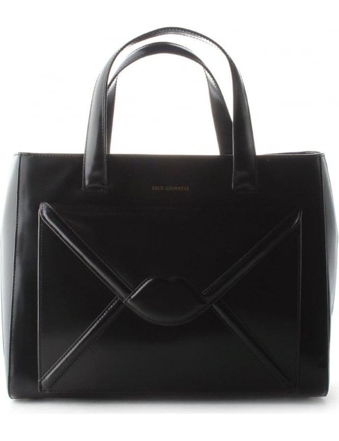 f77e41a18a2dfe Lulu Guinness Louise Lips Women's Envelope Bag Black