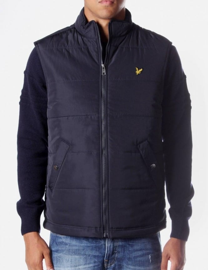 Lyle   Scott Zip Through Men s Gilet Navy dab677a6d