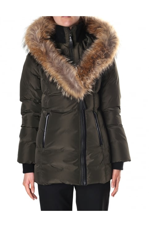 Women's Adali Fitted Winter Down Coat With Fur