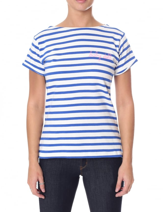 Maison Labiche Women's Baby Doll Short Sleeve Sailor Shirt