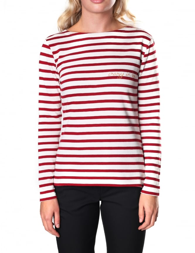 Maison Labiche Women's Crazy In love Long Sleeve Breton Tee