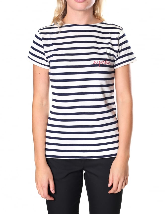 Maison Labiche Women's Superstar Short Sleeve Breton Tee