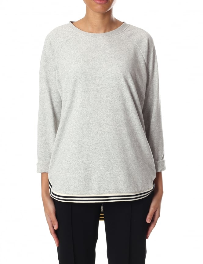 Maison Scotch Women's Loose Fit Sweat With Contrast Rib