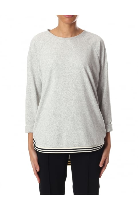 Women's Loose Fit Sweat With Contrast Rib