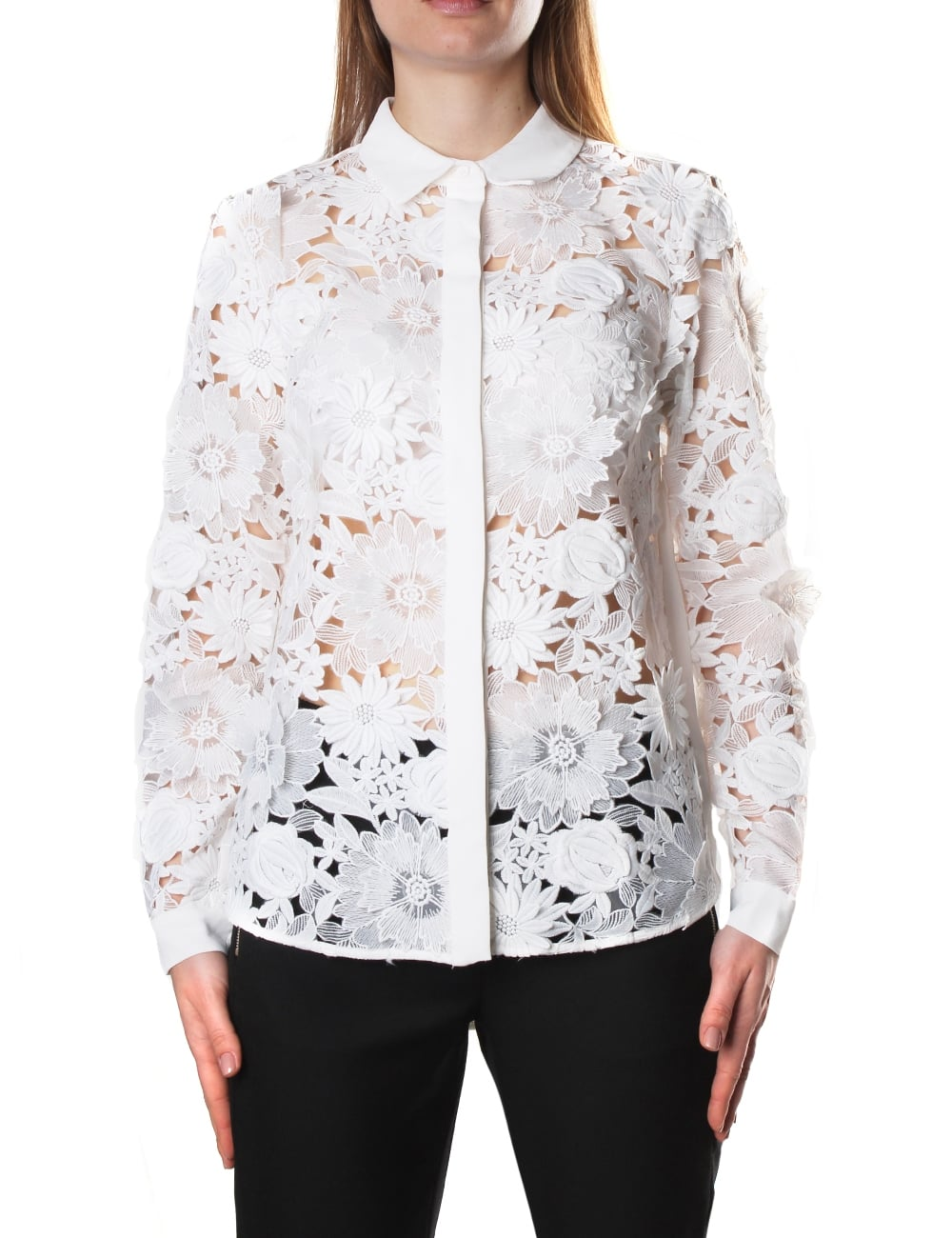 a87aeb15f6e84 French Connection Manzoni 3D Women's Floral Lace Shirt