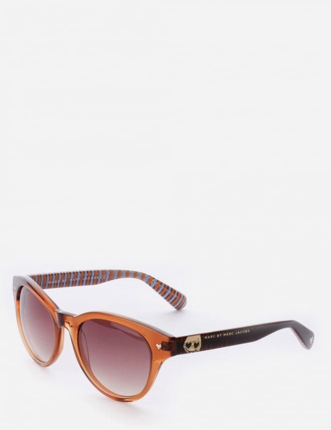 Marc by Marc Jacobs Women's Oversized Rounded Sunglasses Light Brown