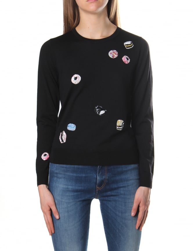 Marc Jacobs Embroidered Women's Classic Candy Crew Neck