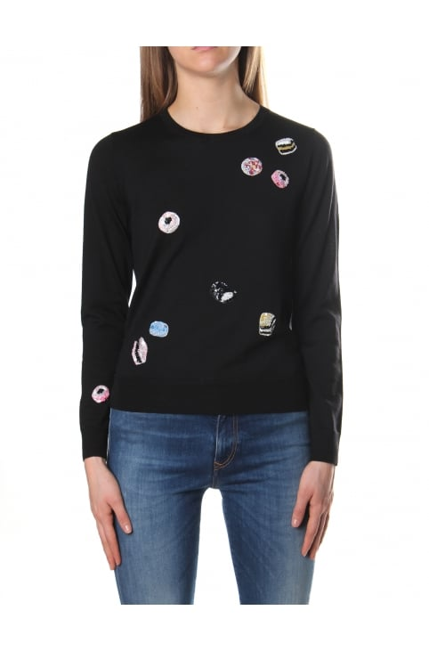 Embroidered Women's Classic Candy Crew Neck