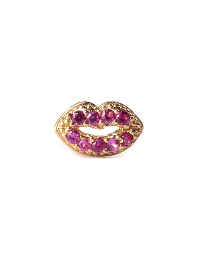 Marc Jacobs Lips Single Stud Women's Earring
