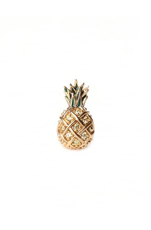 Pineapple Women's Single Stud Earring Topaz Multi