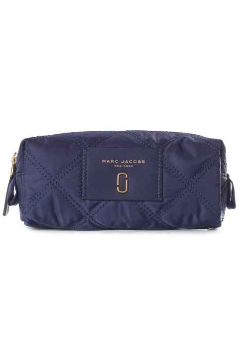 Quilted Women's Narrow Cosmetic Bag