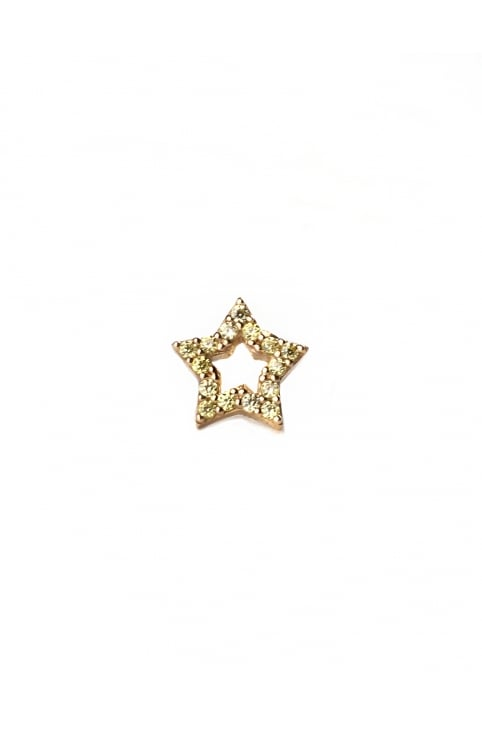 Strass Star Women's Single Stud Earring Topaz/Gold