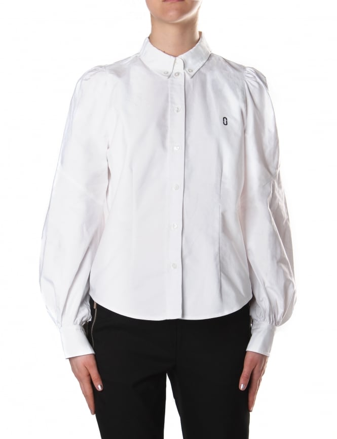 Marc Jacobs Women's Bishop Sleeve Button Down Blouse