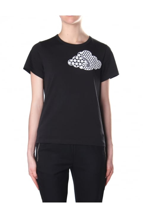 Women's Embroidered Cloud Classic Tee Black