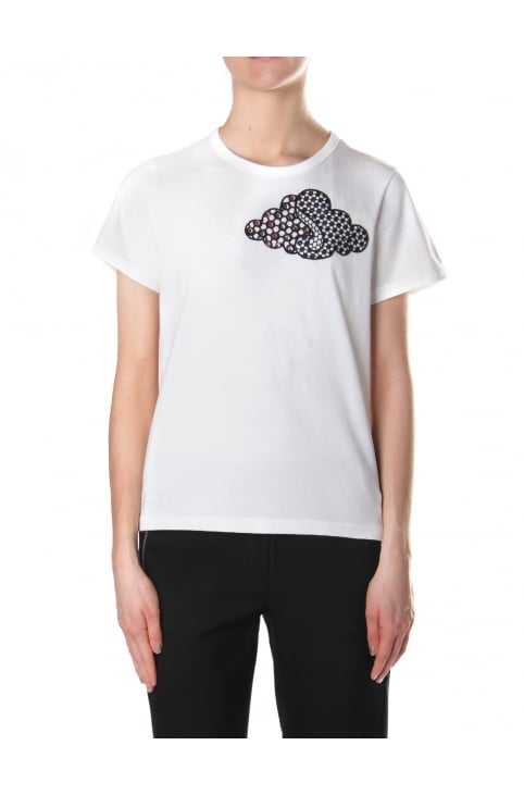 Women's Embroidered Cloud Classic Tee Ivory