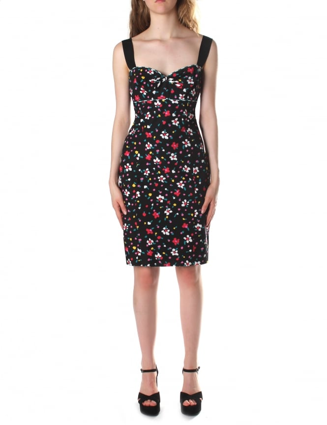Marc Jacobs Women's Floral Fitted Dress