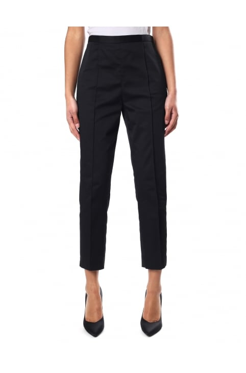 Women's High Waist Cropped Trouser