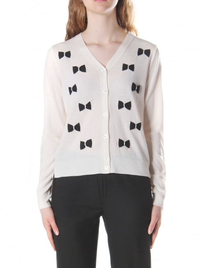 Marc Jacobs Women's Long Sleeve Bow Cardigan