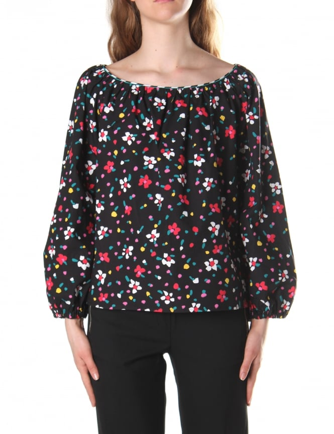 Marc Jacobs Women's Painted Flower Peasant Blouse