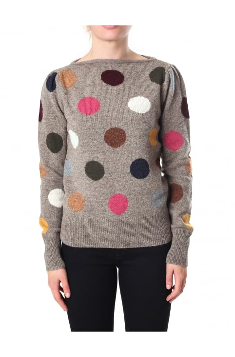 Women's Polka Dot Sweater