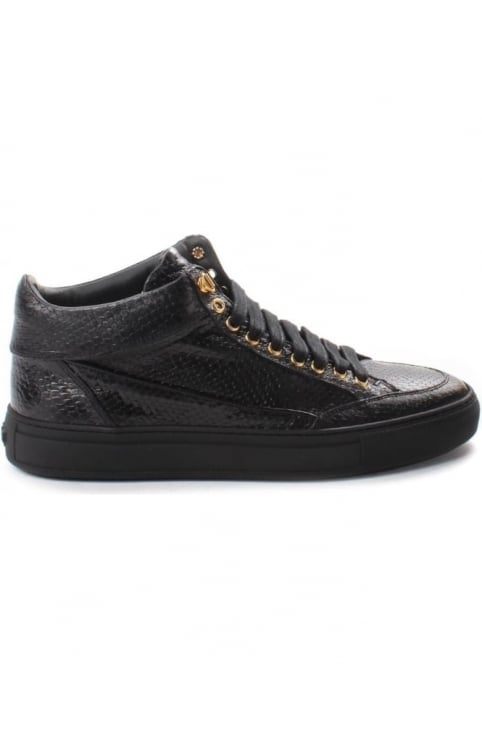 Tia Men's Mid Snake Trainer Black/Black