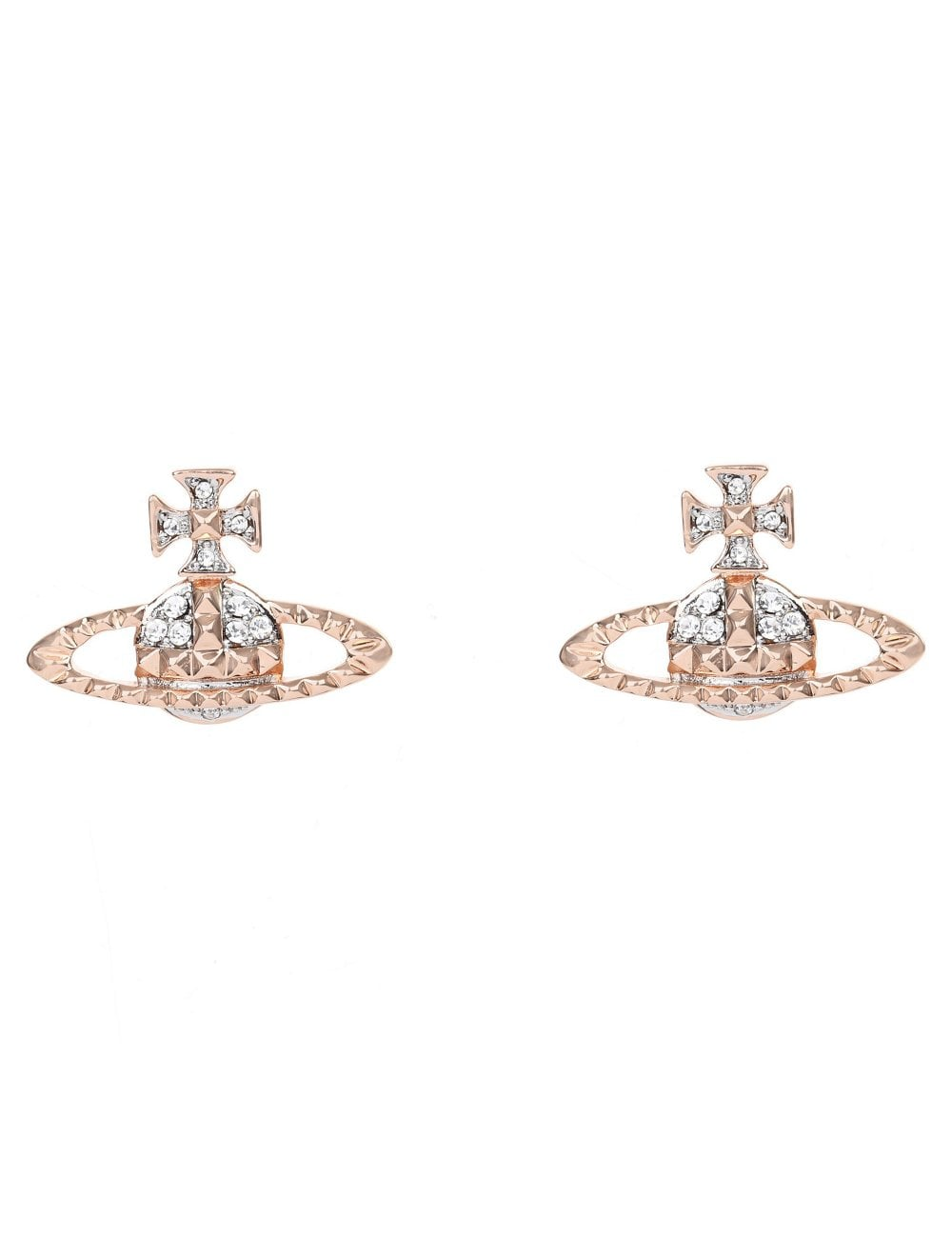 60a261794de Vivienne Westwood Mayfair Bas Relief Earrings Pink Gold/Rhodium