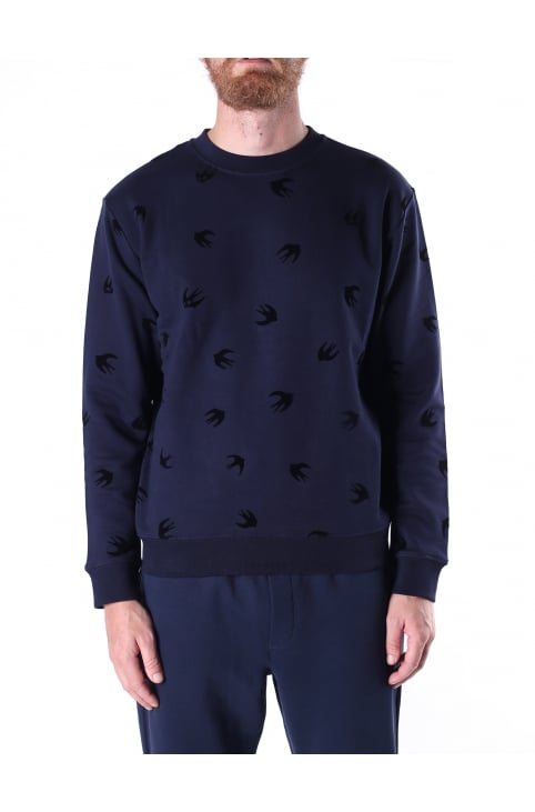 Clean Crew Neck Men's Swallow Sweat Top