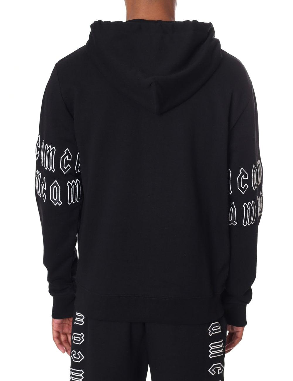 McQ by Alexander McQueen Men s Gothic Repeat Logo Zip Through ... 18fabbbf1d7f