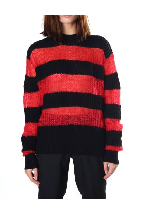 Women's Brushed Stripe Crew Neck Knit