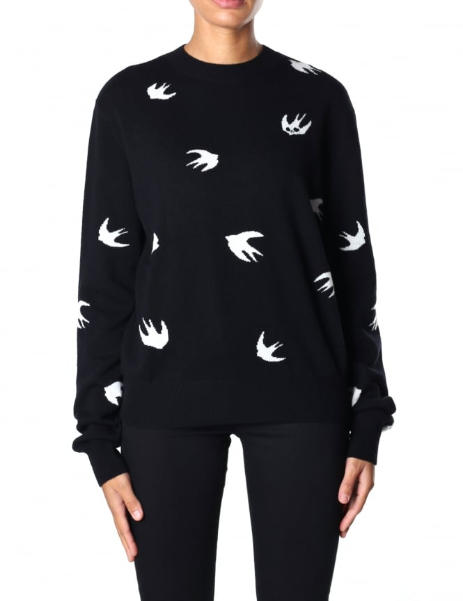 McQ by Alexander McQueen Women's Crew Neck Swallow Sweat Top