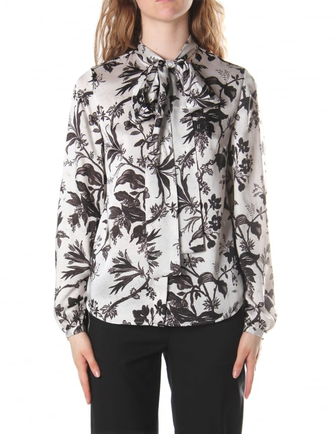 McQ by Alexander McQueen Women's Knotted Neck Blouse